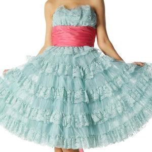 Betsey Johnson Evenings ruffle tea party dress 4